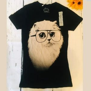 NWOT GOODIE TWO SLEEVES SM cat kitty glasses (m)